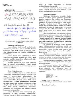 İslamda Çevreye ve Başkasına Zarar Vermemek