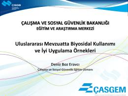 Deniz BOZ ERAVCI - uluslararası katılımlı 2. ulusal biyosidal kongresi
