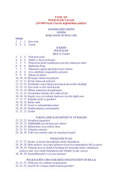 Poliçeler Yasası Fasıl 262