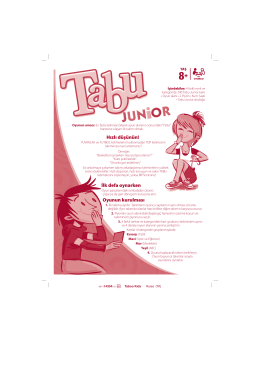 Tabu Junior Instructions