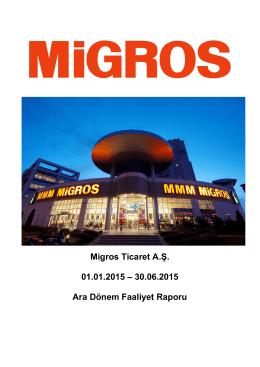 Migros Ticaret Ara Dönem Faaliyet Raporu