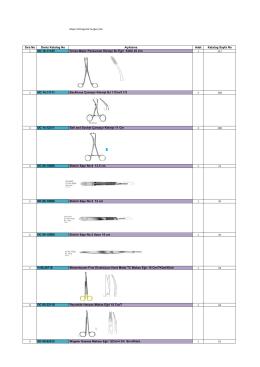 Major Orthognatic Cerrahi Seti Teknik Dosyasına