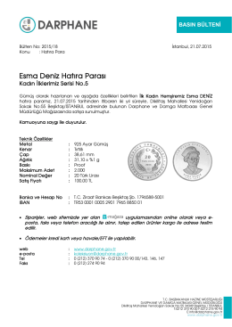 Esma Deniz Hatıra Parası