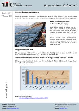 Balıkçılık denizlerimizde azalıyor Yetiştiricilik üretimi arttı Ülkemiz