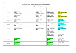 (2015 - 2016) 1. Yarıyıl Ders Programı