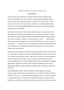 Türk Kültürünün Trafiğe Yansımaları