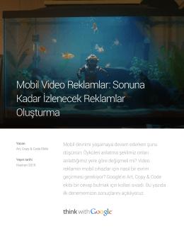 Mobil Video Reklamlar: Sonuna Kadar İzlenecek Reklamlar Oluşturma