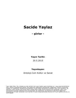 Sacide Yaylaz - Antoloji.Com