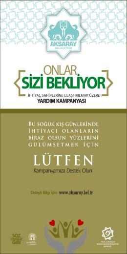 SİZİ BEKLİYOR - Aksaray Belediyesi