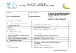 tuvalet eğitim hazırlığı için pediatrik değerlendirme formu ve ürün