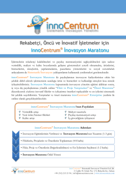 innoCentrum İnovasyon Maratonu