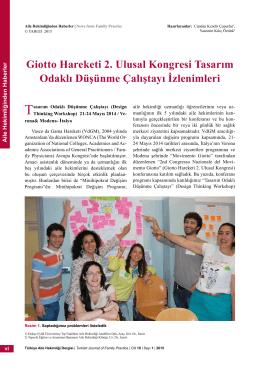 PDF - Giotto Hareketi 2. Ulusal Kongresi Tasarım Odaklı Düşünme