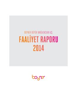 31.12.2014 Faaliyet Raporu