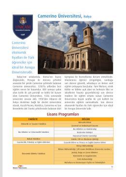 rsitesi, Camerino Üniversitesi, İtalya
