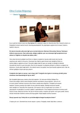 Ebru Ceylan Röportajı