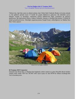 Cilo-Sat Dağları (04-11 Temmuz 2015)