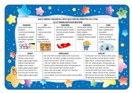 halit armay anaokulu 2014-2015 eğitim öğretim yılı 4 yaş 13