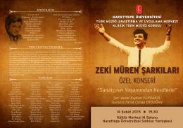 Konser Programı - Hacettepe Üniversitesi Türk Müziği Uygulama ve