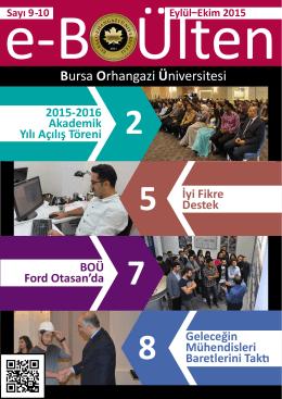 Bülten için tıklayınız - Bursa Orhangazi Üniversitesi