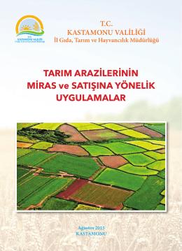 tarım arazilerinin miras ve satışına yönelik uygulamalar