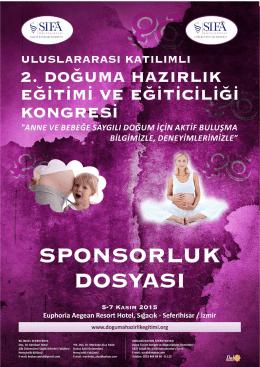 sponsorluk ücretleri - II. Doğuma Hazırlık Eğitimi ve Eğiticiliği Kongresi