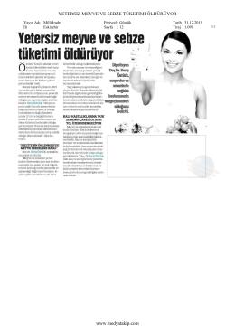 Milli İrade Gazetesi - İrene Diet & Wellness