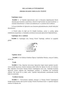 Tüzük - Muş Alparslan Üniversitesi