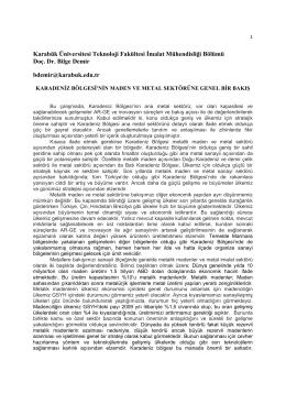 Karabük Üniversitesi Teknoloji Fakültesi İmalat Mühendisliği