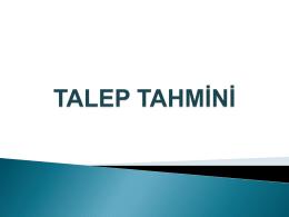 Talep Tahmin