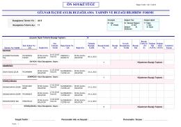 gülnar kasım 2015 ayı tahmini buzağılama raporu