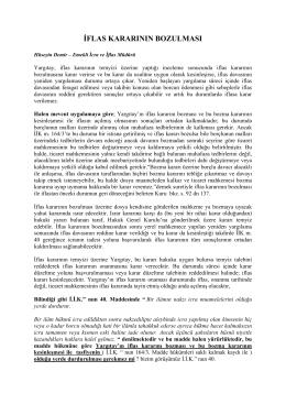 iflas kararının bozulması - Sinerji Hukuk Yazılımları