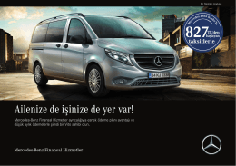 Ailenize de işinize de yer var! - Mercedes