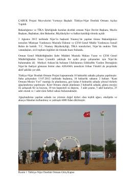 ÇABUK Projesi Meyvelerini Vermeye Başladı: Türkiye