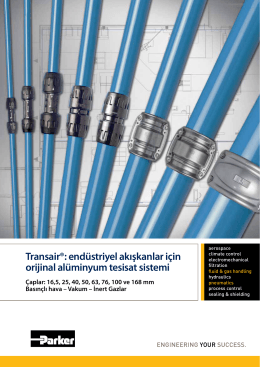 Transair®: endüstriyel akışkanlar için orijinal alüminyum tesisat sistemi