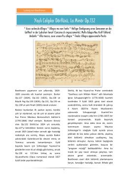 Yaylı Çalgılar Dörtlüsü, La Minör Op.132