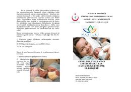 gebelere uygulanan anestezi şekilleri hasta bilgilendirme el broşürü