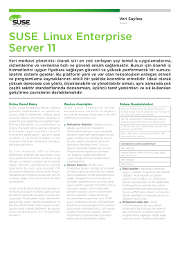 SUSE® Linux Enterprise Server 11