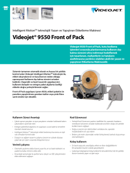Videojet® 9550 Front of Pack