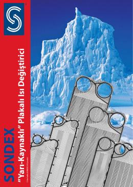 """SONDEX """"Yarı-Kaynaklı"""" Plakalı Isı Değiştirici - Sondex"""
