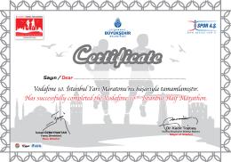 yarı maraton sertifikamız