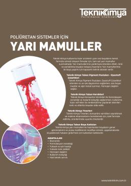 yarı mamuller - Teknik Kimya
