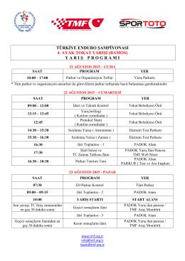 türkiye enduro şampiyonası 4. ayak tokat yarışı (bamos)