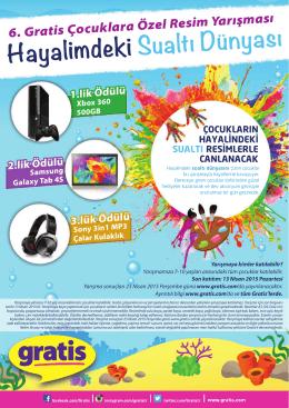 6. Gratis Çocuklara Özel Resim Yarışması Hayalimdeki Sualtı Dünyası
