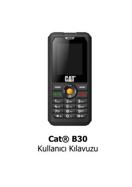 Cat® B30 Kullanıcı Kılavuzu