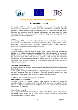 www.pediatric-rheumathology.printo.it 12/2003 1 KAWASAKİ