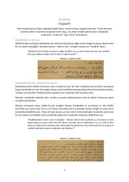 Mudârebe`nin Anlamı Mudârebe (Şirketi) Akdinin Kurulması