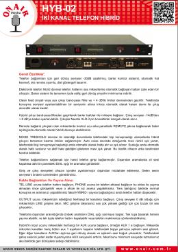 hyb-02 iki kanal telefon hibrid