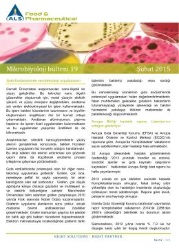 Şubat 2015 Mikrobiyoloji Bültenine erişmek için tıklayın