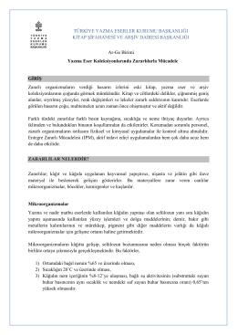 Zararlılarla Mücadele - Türkiye Yazma Eserler Kurumu Başkanlığı