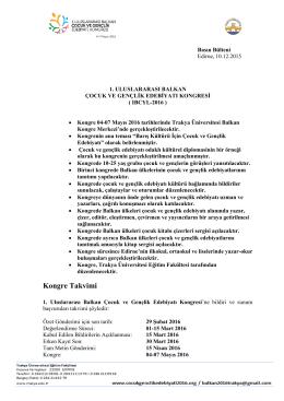 Basin Duyurusu - Cocuk Genclik Edebiyati 2016